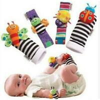 New Baby Soft Handbells Hand Wrist Strap Rattles Toys Animal Socks