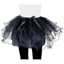 ADULT SHORT BLACK TUTU ONE SIZE FITS MOST SPORTS DAY PARTY COSTUME ACCESSORY