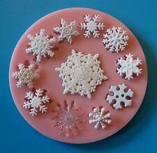 Fiocchi di neve inverno Natale congelati Stampo in silicone per decorazioni per torta al cioccolato etc