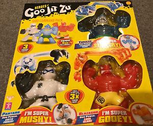 Heroes Of Goo Jit Zu Bundle 3 Pack - Goo Command - Thrash Pantaro  Blazagon