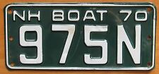 New Hampshire 1970 BOAT License Plate # 975N