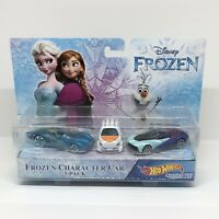 NEW Hot Wheels Disney Frozen Character Cars Elsa, Anna and Olaf 3-Pack