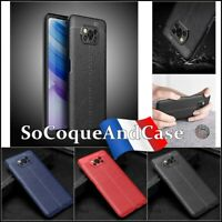 Etui Coque Housse Silicone SHOCKPROOF TPU Litchi Case Cover XIAOMI Poco X3 (NFC)