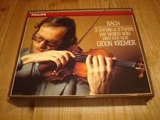 GIDON KREMER Bach Partitas & Sonatas for Solo Violin PHILIPS 2CD 416651-2 Signed