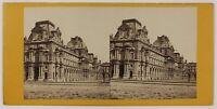 Il Louvre Parigi Francia Foto Stereo L6n53 Vintage Albumina c1870