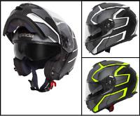 Spada Orion Slate Flip Front Motorcycle Bike Modular Helmet Internal Sun Visor