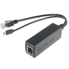 PoE Splitter RJ45 48V > Micro USB 5V / 2,0A Raspberry Pi Ethernet Netzteil