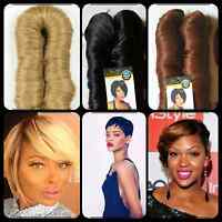 27pcs Remy Human Hair Weaves Finger Roll Wave +Closure +Side Bang +Dome Wig Cap
