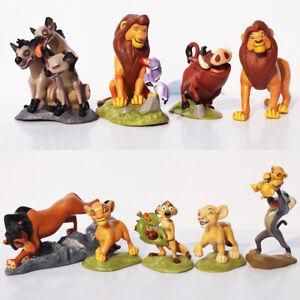 9 Pcs The Lion King Simba Nala Timon Pumbaa PVC Action Figure Statue Cake Topper