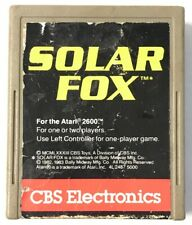 Solar Fox (Atari 2600, 1983) Video Game Cartridge Only Tested And Working