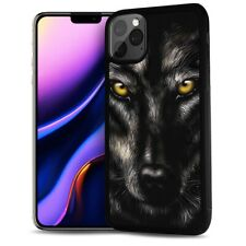 ( For iPhone 11 ) Back Case Cover AJ12643 Black Wolf
