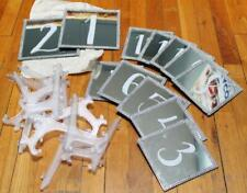 12x Wedding Table Numbers Mirror w/ Stand - Portable Decors Cards Holder Party