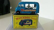 Matchbox 1-75 Modellauto RW No.47b Ice Cream Canteen 1963-67 mit OVP D