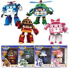 Robocar Poli POLI ROY AMBER HELLY Robot toys Kids Educational Toy Set