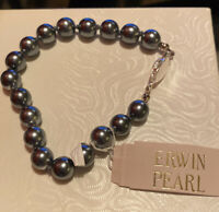 VINTAGE ERWIN PEARL Metallic Pearl Bracelet Estate Sale NWT Lovely!