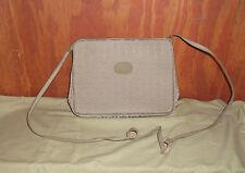 Pierre Cardin Taupe/Beige Signature Jacquard Logo Shoulder Bag
