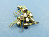 10x BC109C NPN Low Noise Small Signal Transistor TO-18 Metal CAN Gold Pins, CEMI