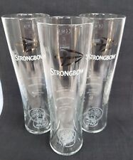 3 Stunning Strongbow - Strongbow Dark Fruit Cider Glasses - NEW - Home Bar - Pub