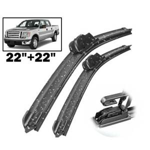 XUKEY Car Front Windshield Wiper Blades For Ford F-150 F-250 F-350 Cadillac DTS