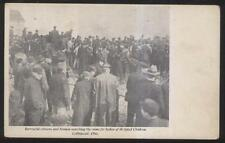 1908 POSTCARD COLLINGWOOD OH/OHIO FIREFIGHTERS LOOKING FOR SCHOOL KIDS REMAINS