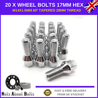 20 x Alloy Wheel Bolts M14x1.5 Nuts For Audi A6 With After-market Alloys