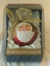 COLLECTORS SERIES BEADED GLASS CHRISTMAS ORNAMENT ORNAMENTS SANTA CLAUS BALL
