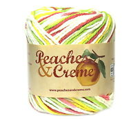 Peaches & Creme Yarn Pink Lemonade #12616 Cotton Worsted 2 oz Skein NEW