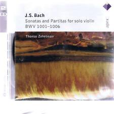 CD APEX DELETED 2  CD THOMAS ZEHETMAIR - BACH SOLO VIOLIN SONATAS & PARTITAS