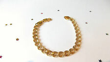 GOOD QUALITY Men's 9ct Gold Plate Bracelet
