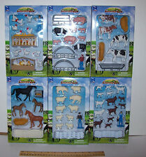 1/32  NEW Ray farm animals with extras. 6 SETS.= Cows, horses,sheep , pigs& More