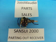 Sansui 2000 Original Bass or treble Control. Tested Parting Out 2000 Receiver