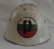 WWII ERA BULGARIAN M51 MILITARY POLICE MP STEEL HELMET SIMILAR TO ITALIAN M33