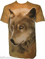 Golden Eyes Eyed Wolf Wolves Husky Huskies Western The Mountain T-Shirt