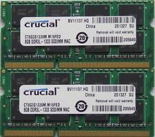 16 GB de RAM para Macbook Pro 2.2 ghz Intel Quad-Core i7 (15-pulgadas DDR3) late-2011