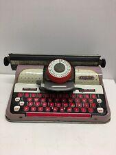 Jouet Ancien machine à écrire en Tôle de marque METTOY ELEGANT