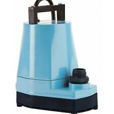 Submersible Utility Pump Water Pond Fountain Outdoor Hydroponics Little Giant
