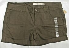 NWT Women's DKNY Jeans Brand Dark Khaki Olive Army Brown/Green Shorts Size 14