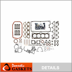 Fits 93-98 Mitsubishi Plymouth Eagle 2.0L Turbo Full Gasket Set Bolts 4G63 4G63T