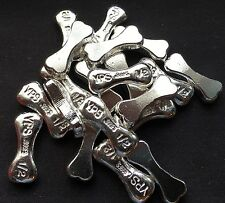 """1/2 Troy Ounce Hand Poured 999 Silver Bullion """"Dog Bone"""" by YPS Yeager's"""