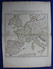 Original antique map WEST EUROPE, GERMANY, SPAIN, ITALY, FRANCE, D'Anville, 1794