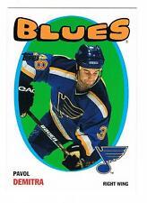 2001-02 PAVOL DEMITRA TOPPS HERITAGE PARALLEL #61 BLUES