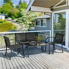 Patio Wicker Furniture Set Outdoor Rattan Sofa Garden Conversation Set For Home