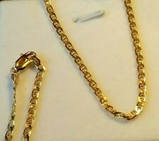 """SALE! New Italian Made 14K Gold Gucci Mariner Link Necklace 21"""" Heavy 6.45g, 2mm"""