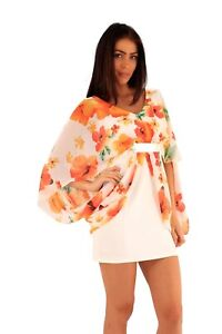 Size 12(New)Luxurious floral Flare sleeves Gold Belt Fit&Flare Mini Party dress