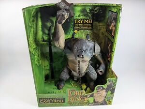 Lord of the Rings Electronic WORKING Cave Troll LOTR Fellowship Green RARE HTF