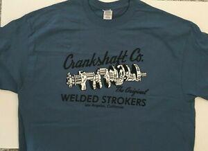 Crankshaft Co. Welded Strokers  MENS T-SHIRT 100% COTTON DRAG RACING NHRA