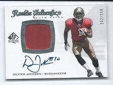 2008 SP Authentic Dexter Jackson RPA PRIME PATCH RELIC AUTO RC #272 232/999