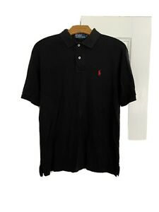 Ralph Lauren Polo Men's SZ S Custom Slim Fit Soft Touch Polo-Shirt Black