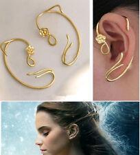 Beauty and the Beast Earrings Ear Belle/Emma Watson Cuff Gold Rose Stud Jewellry