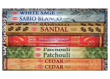 Hem Incense Dragons Blood-White Sage-Patchouli-Sandal-Cedar Sticks Sampler {:-)